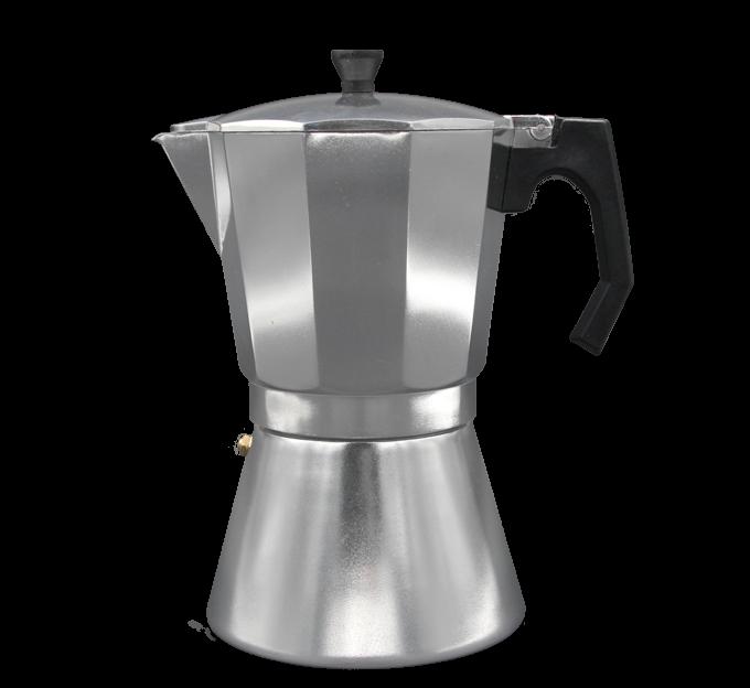 Cafetera de aluminio 6,9 o 12 tazas, apta para la inducción